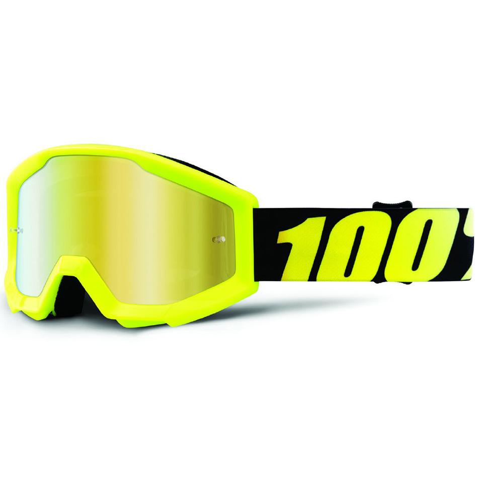100% - Strata JR Yellow Mirror Gold Lens, очки
