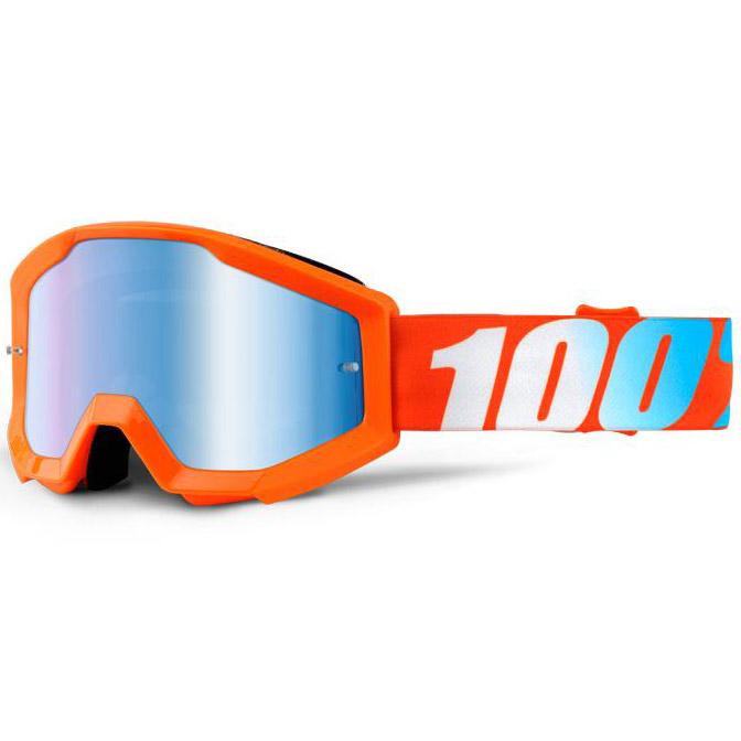 100% - Strata JR Orange очки подростковые, линза зеркальная синяя