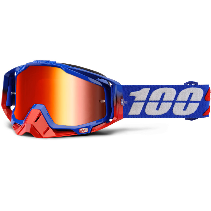 100% - Racecraft Republic очки, линза зеркальная, красная