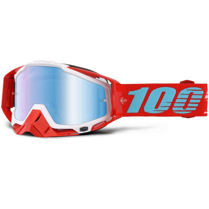 100% - Racecraft Kepler очки, линза зеркальная, синяя