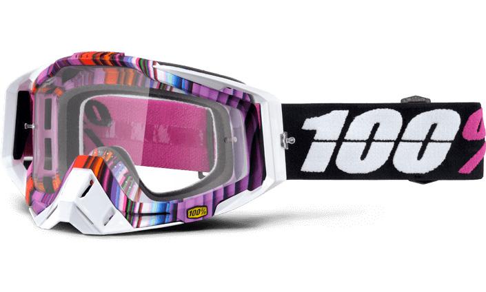 100% - Racecraft Glitch очки, прозрачная линза