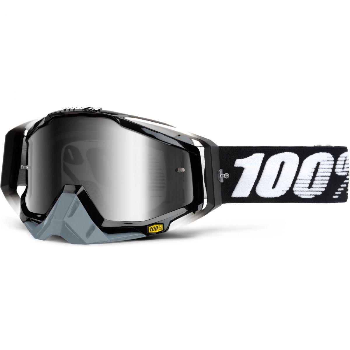 100% - Racecraft Abyss Black очки, линза зеркальная, серая