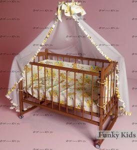 Кровать для новорожденных Фанки Литл №2 (автоспинка)