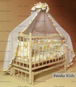 Кровать для новорожденных Фанки Литл №3 с поперечным маятниковым механизмом