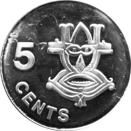 Соломоновы острова 5 центов 2005 г.