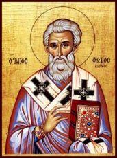 Фотий Константинопольский (рукописная икона)