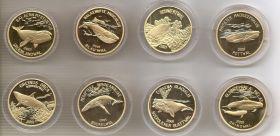 Киты набор монет 20 вон КНДР(Северная Корея) 2001