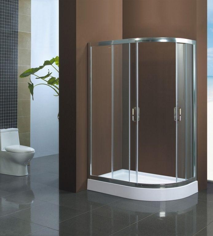 Душевой уголок BandHours Tulip R (Тулип П) 100x80 прозрачное стекло ФОТО