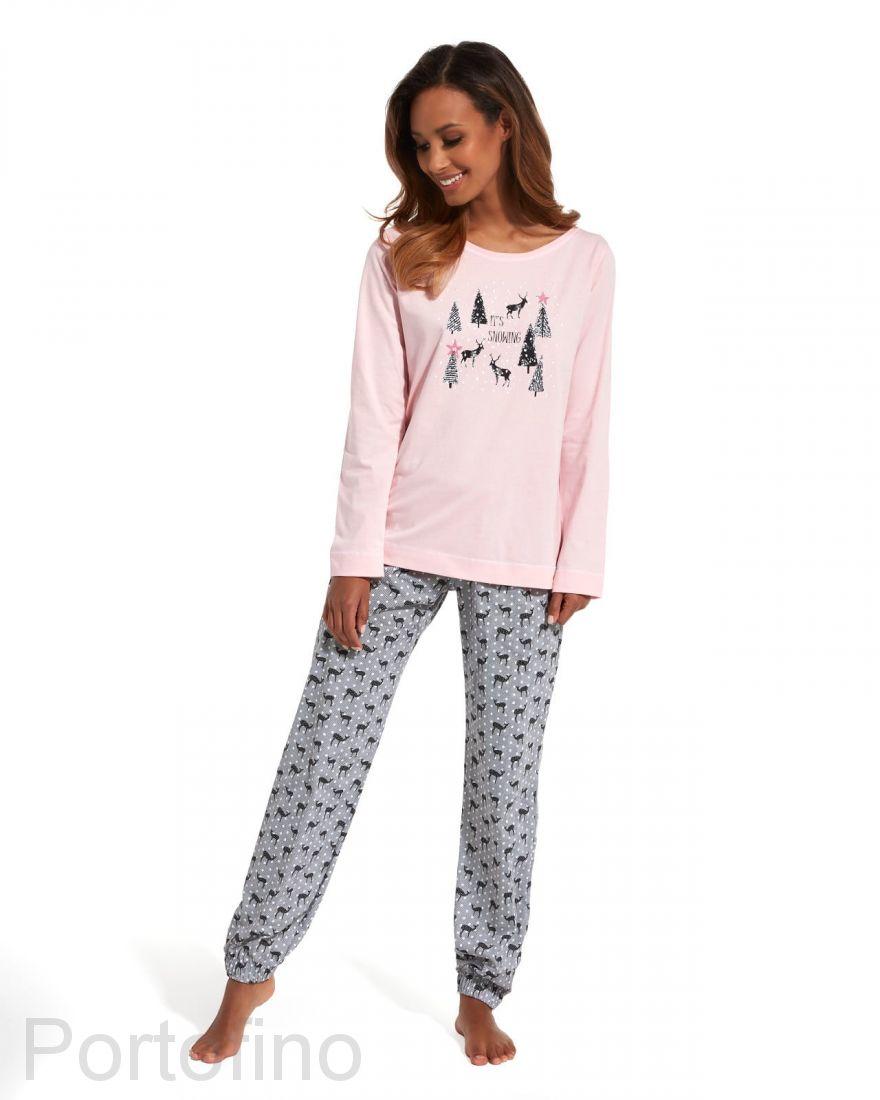 627-132 Пижама женская с длинным рукавом Cornette