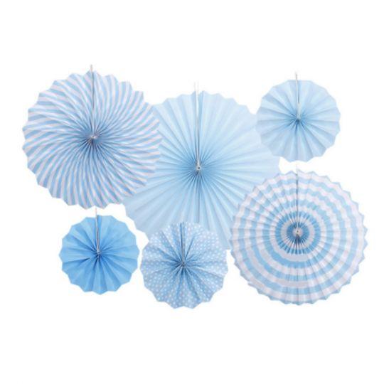 Набор из 6 фантов Голубой с узором