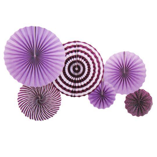 Набор из 6 фантов Фиолетовый с узором