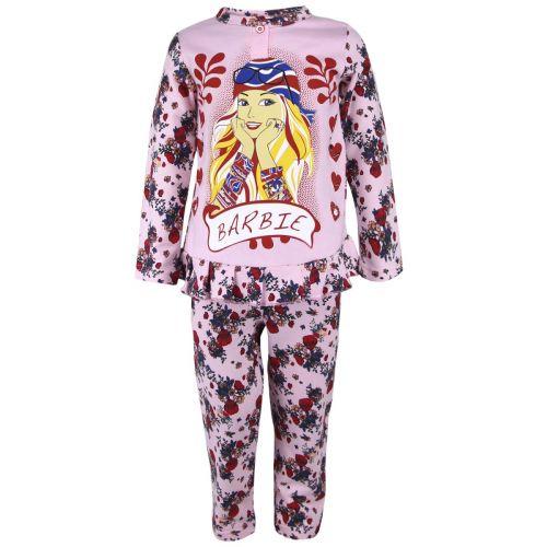 Пижама с начесом для девочек 2-6 лет BB028
