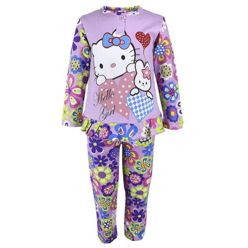 Пижама с начесом для девочек 2-6 лет BB025