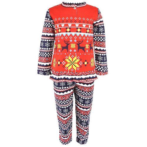 Пижама с начесом для девочек 2-6 лет BB027