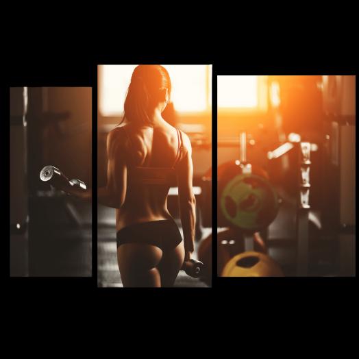 Модульная картина Полезный фитнес