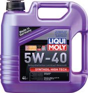 МАСЛО МОТОРНОЕ LIQUI MOLY SYNTHOIL HIGH TECH 5W40 ЕМКОСТЬ 4 Л.