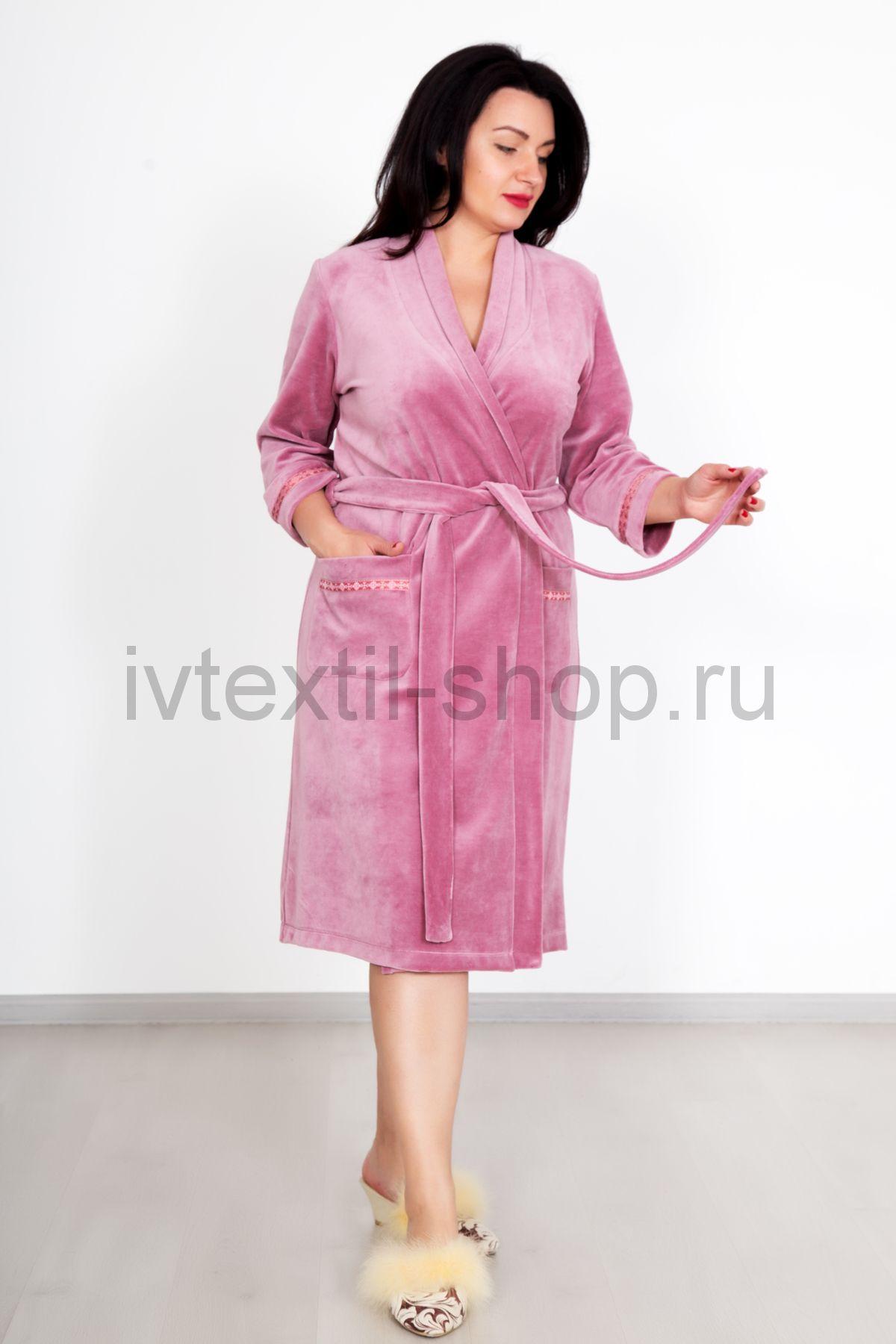 faf2a5f201827 Купить недорого женский домашний велюровый халат