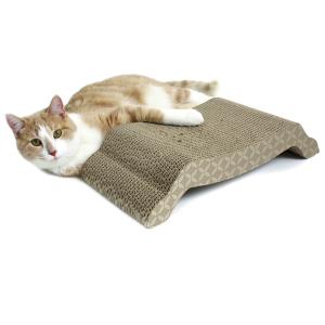 Когтеточка Kitty City Bridge scratcher Пьедестал малая картон для кошек 9х43х22см