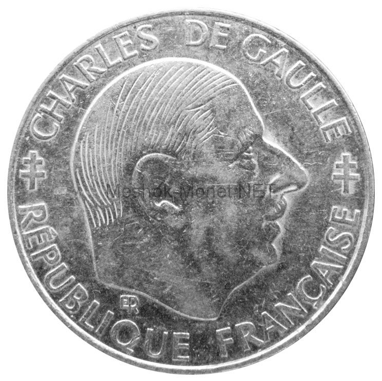 Франция 1 франк 1988 г.
