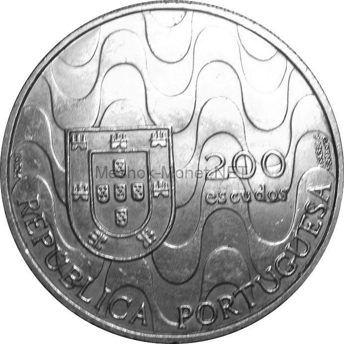 Португалия 200 эскудо 1992 г. Председательство Португалии в Евросоюзе.