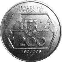 Португалия 200 эскудо 1991 г. Навигация на Запад