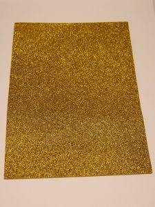 """Фоамиран """"глиттерный"""" Китай, толщина 2 мм, размер 20x30 см, цвет золото ацтеков (1 уп = 10 листов)"""