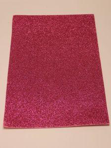 """Фоамиран """"глиттерный"""" Китай, толщина 2 мм, размер 20x30 см, цвет розовый (1 уп = 10 листов)"""