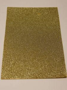 """Фоамиран """"глиттерный"""" Китай, толщина 2 мм, размер 20x30 см, цвет золото (1 уп = 10 листов)"""