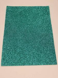 """`Фоамиран """"глиттерный"""" Китай, толщина 2 мм, размер 20x30 см, цвет бирюзовый"""