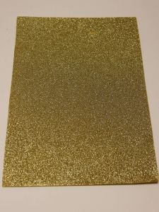 """`Фоамиран """"глиттерный"""" Китай, толщина 2 мм, размер 20x30 см, цвет золото"""