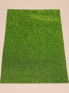 """`Фоамиран """"глиттерный"""" Китай, толщина 2 мм, размер 20x30 см, цвет № Ф009 зеленый"""