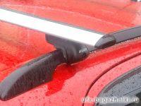 Багажник на крышу Suzuki SX4 2006-13, hatchback, Атлант, крыловидные дуги на рейлинги