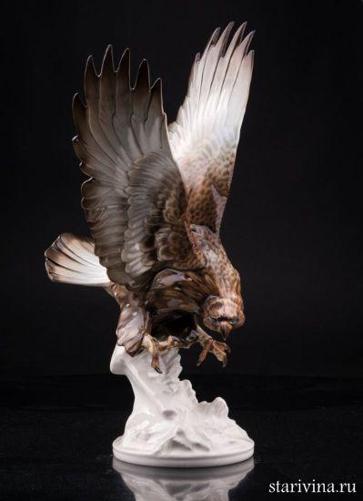 Старинная фарфоровая статуэтка птицы Орел производства Hutschenreuther, Германия