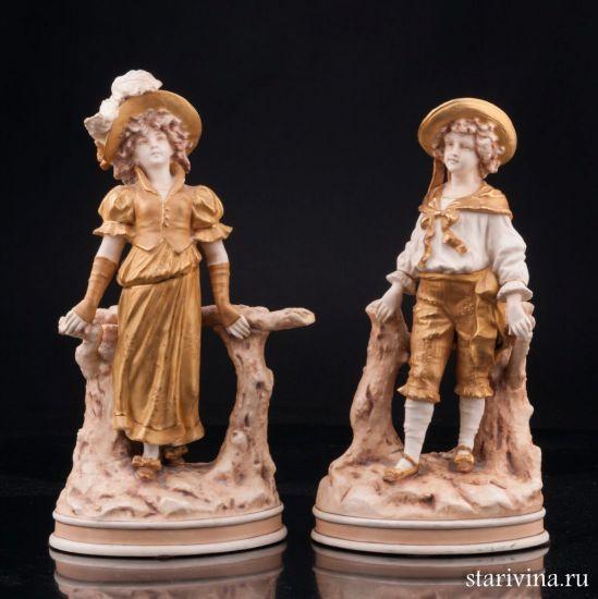 Изображение Пара в золотых костюмах, Австрия, нач.20 в