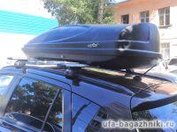 Багажник на крышу Suzuki SX4 2013-... на интегрированные рейлинги Евродеталь, крыловидные дуги