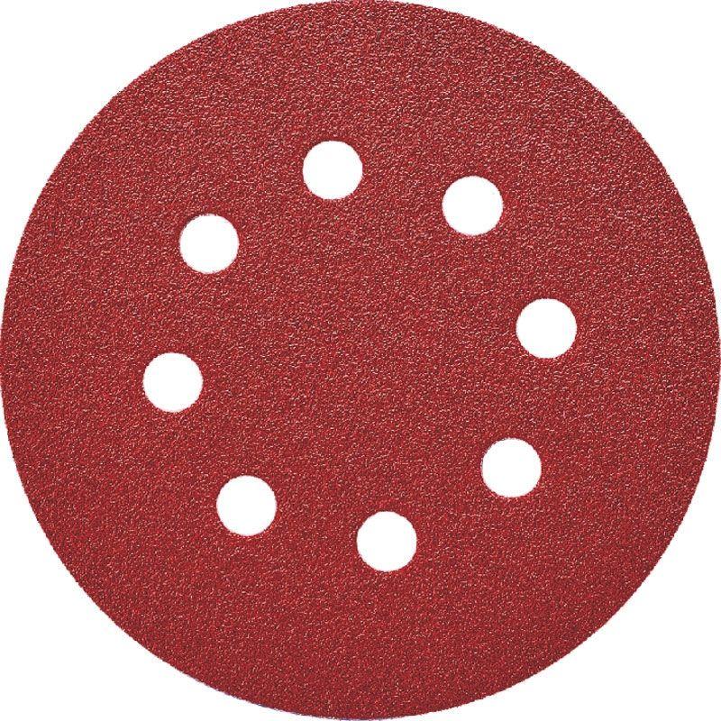 Smirdex P120 Абразивный круг 330 Duroflex, D 125мм, 8 отверстий, (упаковка 100 шт.)