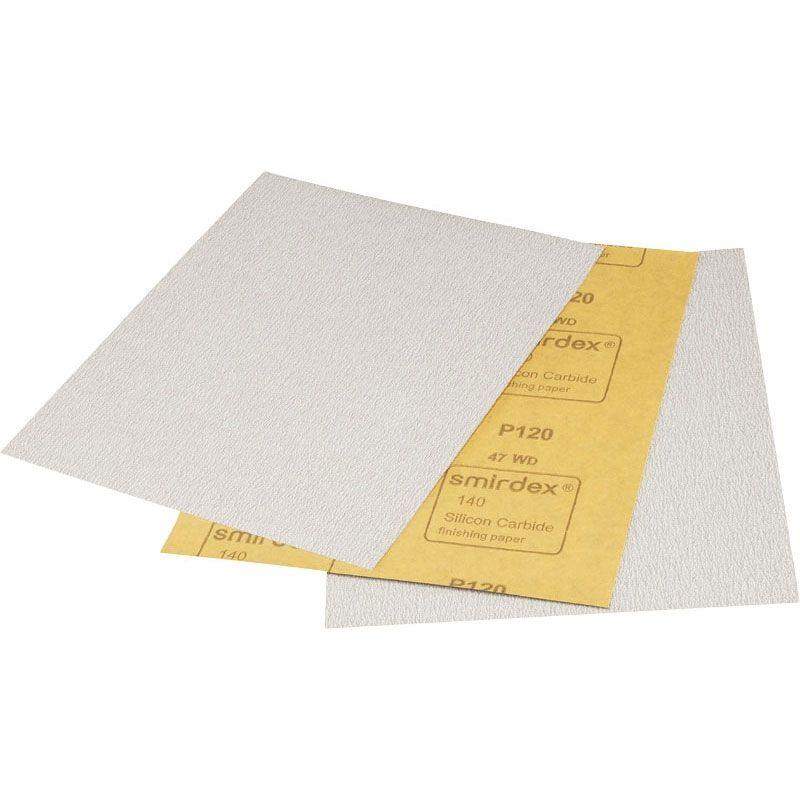 Smirdex P120 Абразивная бумага SMIRDEX 140 Silicon Carbide, 230мм x 280мм, (упаковка 100 шт.)