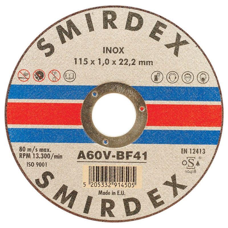 Smirdex Отрезной диск по металлу и нержавеющей стали 125мм x 1мм