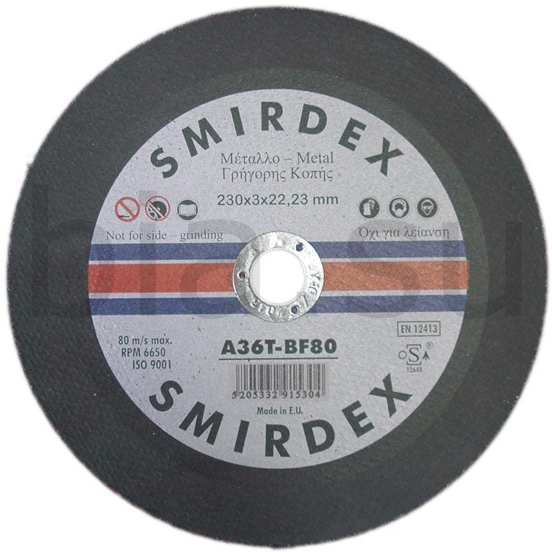 Smirdex Отрезной диск по металу и нержавеющей стали 230мм x 3мм