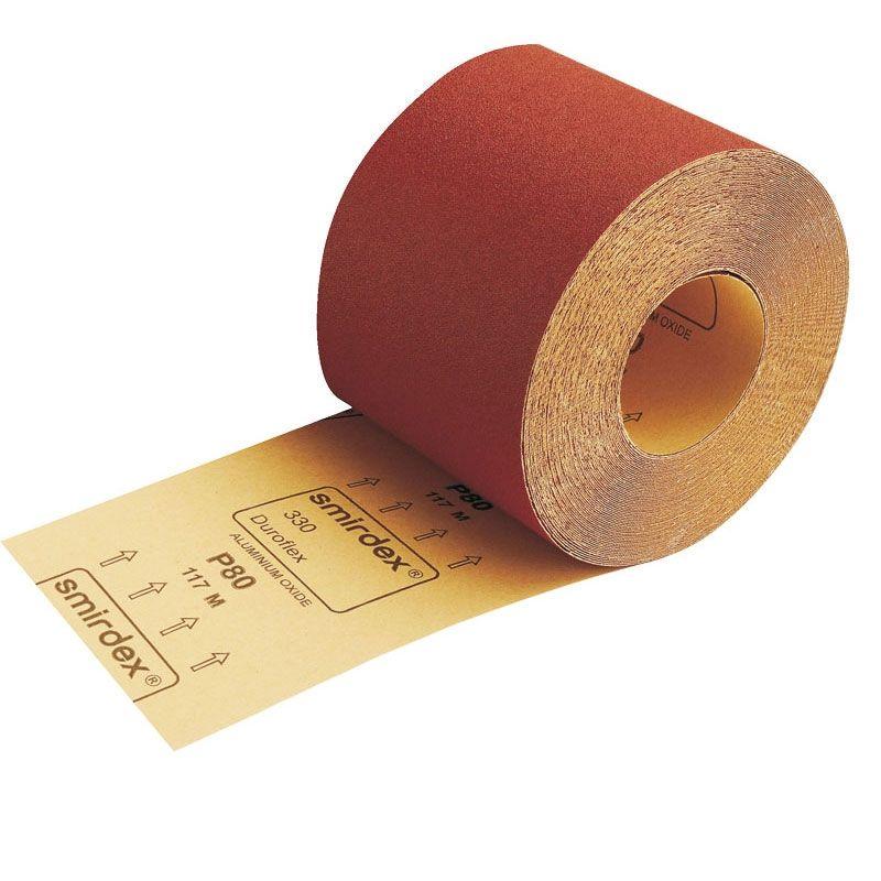 Smirdex Р80 Абразивная бумага в рулоне SMIRDEX 330 Duroflex, 116мм x 25м, (упаковка 1 шт.)