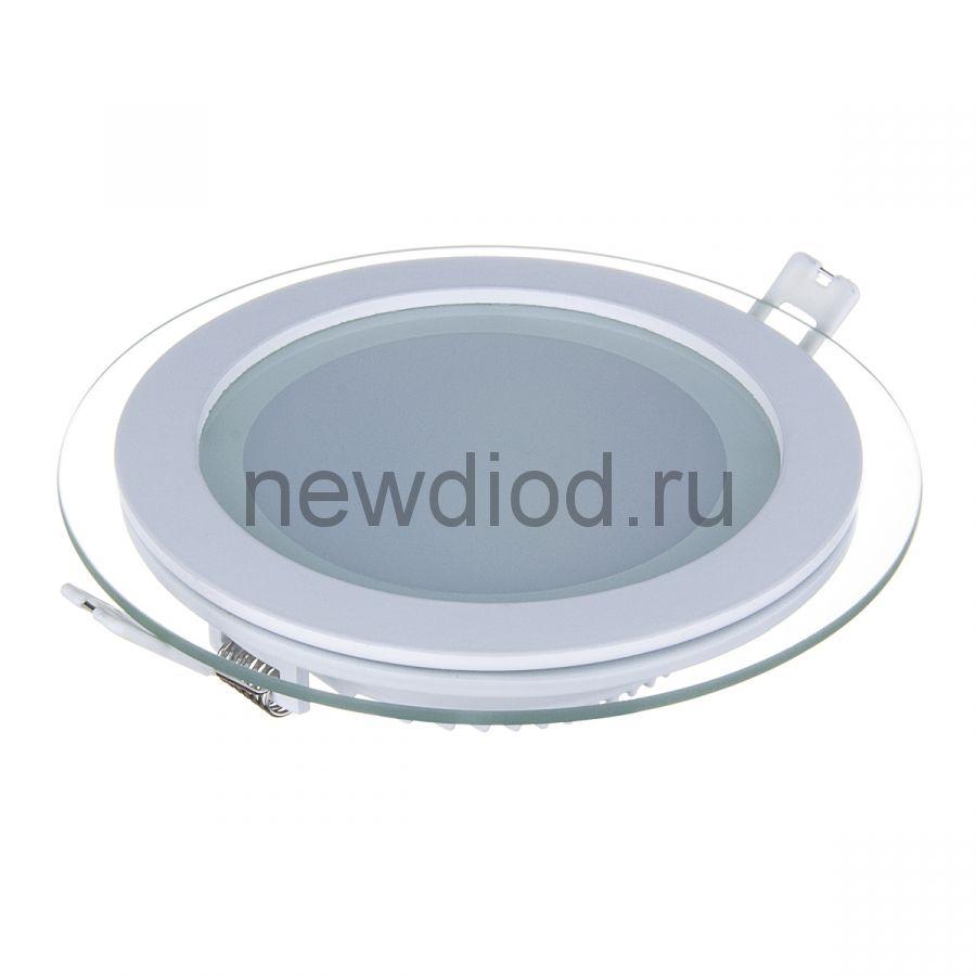 Светильник встраиваемый OREOL Glass Rlp 9W-720Lm 95/120mm 4000K (30/кор)