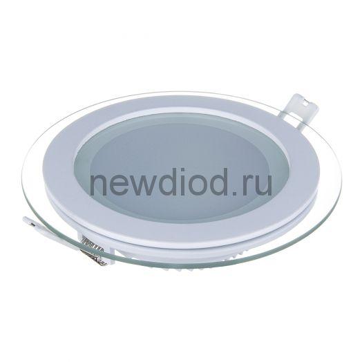 Светильник встраиваемый OREOL Glass Rlp 6W-450Lm 75/100mm 6000K