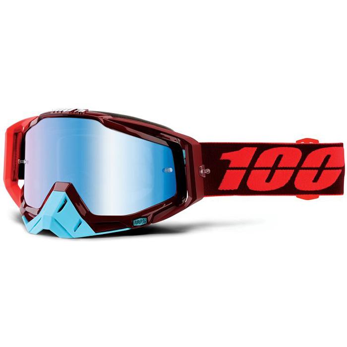100% - Racecraft Kikass очки, линза зеркальная, синий