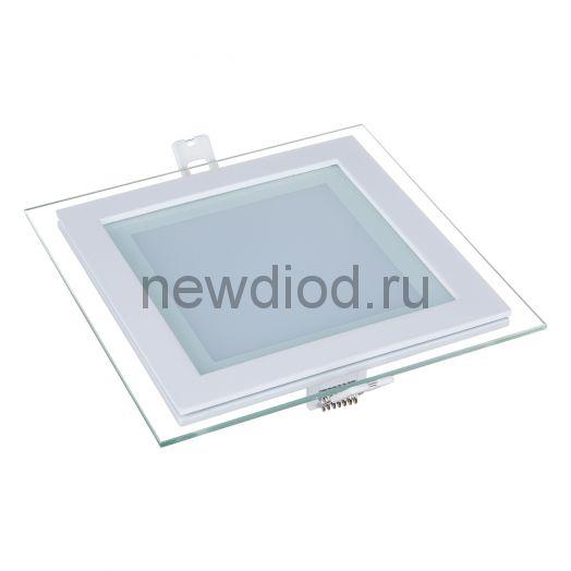 Светильник встраиваемый OREOL Glass Slp 9W-720Lm 95/120mm 6000K