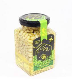 Акациевый мёд с кедровым ядрышком, 300 гр