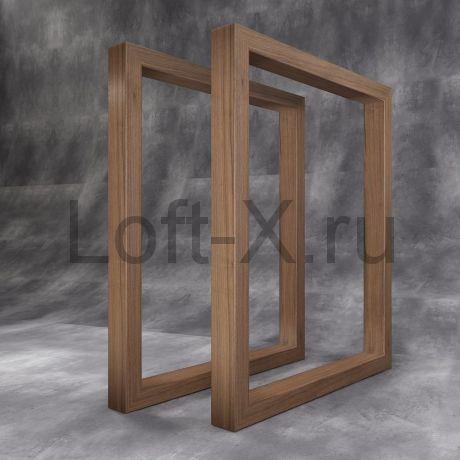 """Опора стола """"Дизайн О"""" из дубового бруса"""