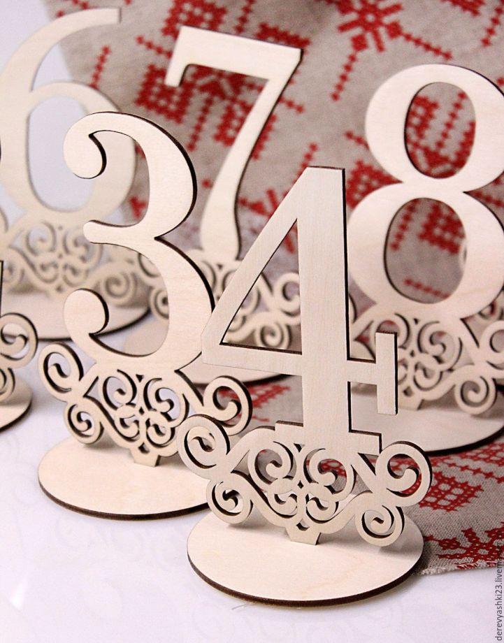 Числа на стол для свадьбы или других мероприятий