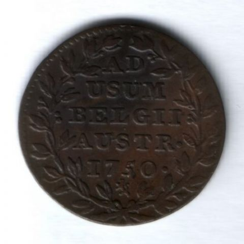 2 лиарда 1750 г. Австрийские Нидерланды, AUNC