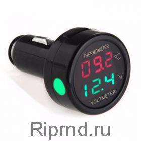 Вольтметр + термометр