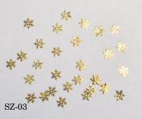 """Логотип """"Снежинки ажурные золото"""", 25 штук SZ-03"""